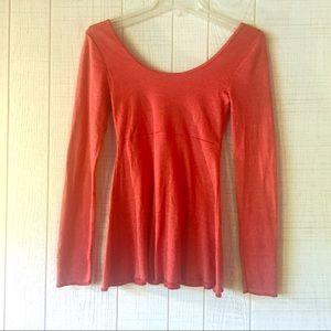 MICHAEL STARS Red Long Sleeve Shirt Christmas